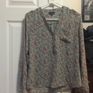 The Limited Mint Green Patterned Blouse